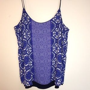 The Limited Reversible blue and white Cami